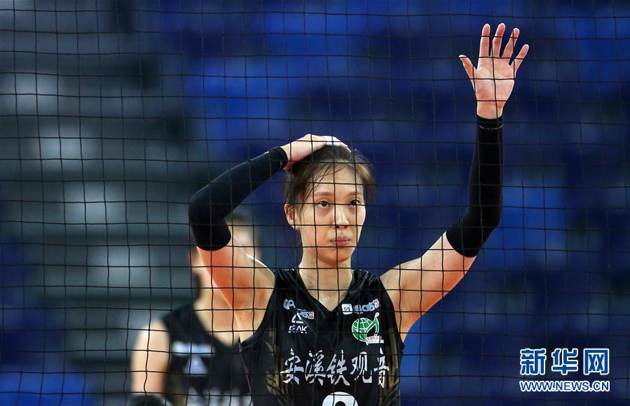 (体育)(8)排球——全国女排锦标赛:上海胜福建